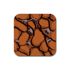 Seamless Dirt Texture Rubber Square Coaster (4 pack)
