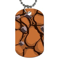 Seamless Dirt Texture Dog Tag (one Side)