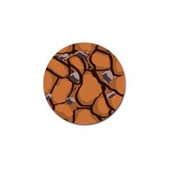 Seamless Dirt Texture Golf Ball Marker (10 pack)