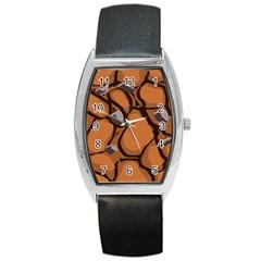 Seamless Dirt Texture Barrel Style Metal Watch