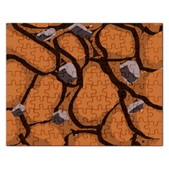 Seamless Dirt Texture Rectangular Jigsaw Puzzl
