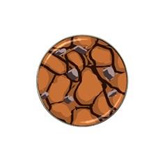 Seamless Dirt Texture Hat Clip Ball Marker