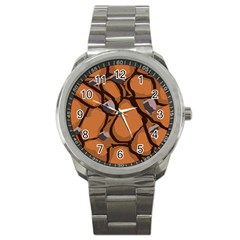 Seamless Dirt Texture Sport Metal Watch