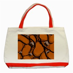 Seamless Dirt Texture Classic Tote Bag (red)