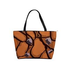 Seamless Dirt Texture Shoulder Handbags