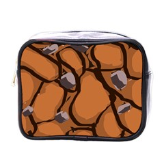 Seamless Dirt Texture Mini Toiletries Bags