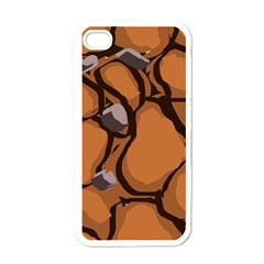 Seamless Dirt Texture Apple Iphone 4 Case (white)