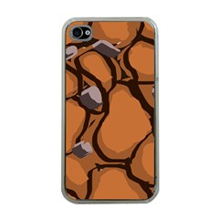 Seamless Dirt Texture Apple iPhone 4 Case (Clear)