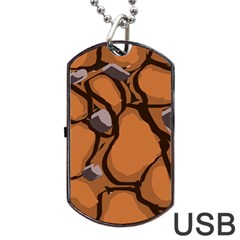 Seamless Dirt Texture Dog Tag Usb Flash (one Side)