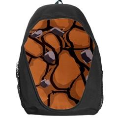 Seamless Dirt Texture Backpack Bag