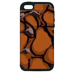 Seamless Dirt Texture Apple Iphone 5 Hardshell Case (pc+silicone)