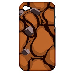 Seamless Dirt Texture Apple Iphone 4/4s Hardshell Case (pc+silicone)