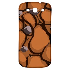Seamless Dirt Texture Samsung Galaxy S3 S III Classic Hardshell Back Case