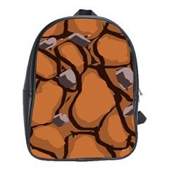 Seamless Dirt Texture School Bags (XL)