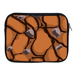 Seamless Dirt Texture Apple Ipad 2/3/4 Zipper Cases