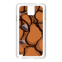 Seamless Dirt Texture Samsung Galaxy Note 3 N9005 Case (White)
