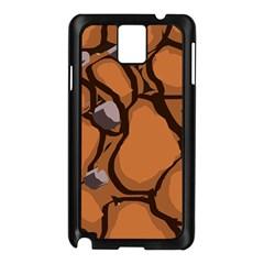 Seamless Dirt Texture Samsung Galaxy Note 3 N9005 Case (black)
