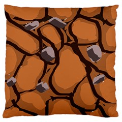 Seamless Dirt Texture Large Flano Cushion Case (one Side)