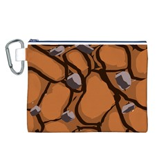 Seamless Dirt Texture Canvas Cosmetic Bag (l)