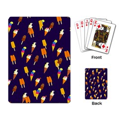 Seamless Ice Cream Pattern Playing Card