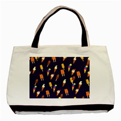 Seamless Ice Cream Pattern Basic Tote Bag (Two Sides)