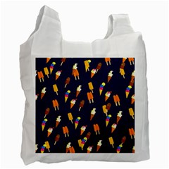 Seamless Ice Cream Pattern Recycle Bag (two Side)