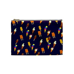 Seamless Ice Cream Pattern Cosmetic Bag (Medium)