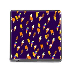 Seamless Ice Cream Pattern Memory Card Reader (square)