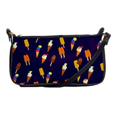 Seamless Ice Cream Pattern Shoulder Clutch Bags