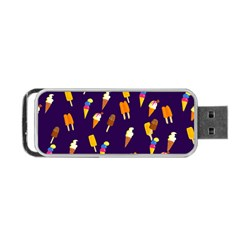 Seamless Ice Cream Pattern Portable USB Flash (Two Sides)