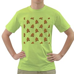 Gingerbread Seamless Pattern Green T-Shirt