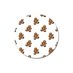 Gingerbread Seamless Pattern Magnet 3  (Round)
