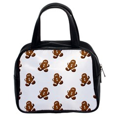 Gingerbread Seamless Pattern Classic Handbags (2 Sides)