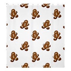 Gingerbread Seamless Pattern Shower Curtain 66  x 72  (Large)
