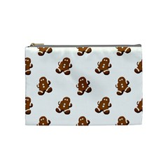 Gingerbread Seamless Pattern Cosmetic Bag (Medium)