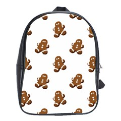Gingerbread Seamless Pattern School Bags(Large)