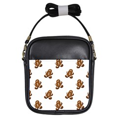 Gingerbread Seamless Pattern Girls Sling Bags