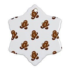 Gingerbread Seamless Pattern Snowflake Ornament (Two Sides)