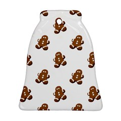 Gingerbread Seamless Pattern Bell Ornament (Two Sides)