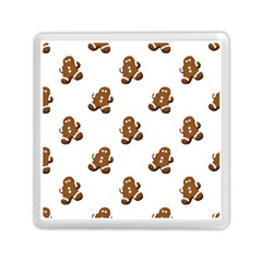 Gingerbread Seamless Pattern Memory Card Reader (Square)