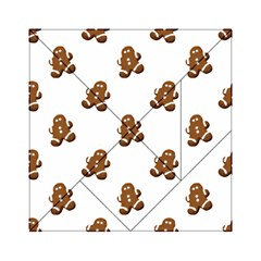 Gingerbread Seamless Pattern Acrylic Tangram Puzzle (6  x 6 )