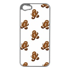 Gingerbread Seamless Pattern Apple Iphone 5 Case (silver)