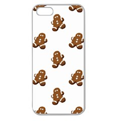 Gingerbread Seamless Pattern Apple Seamless Iphone 5 Case (clear)