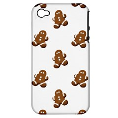 Gingerbread Seamless Pattern Apple Iphone 4/4s Hardshell Case (pc+silicone)