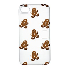 Gingerbread Seamless Pattern Apple iPhone 4/4S Hardshell Case with Stand