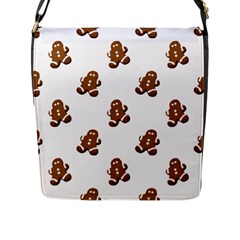 Gingerbread Seamless Pattern Flap Messenger Bag (l)