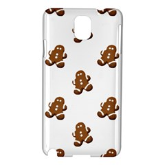 Gingerbread Seamless Pattern Samsung Galaxy Note 3 N9005 Hardshell Case