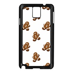 Gingerbread Seamless Pattern Samsung Galaxy Note 3 N9005 Case (black)
