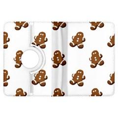 Gingerbread Seamless Pattern Kindle Fire Hdx Flip 360 Case