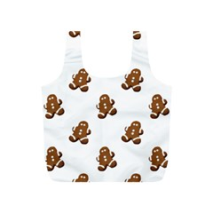 Gingerbread Seamless Pattern Full Print Recycle Bags (s)